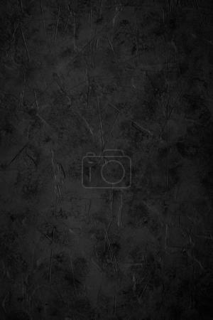 Photo for Black empty concrete stone texture. Black rock slate background. Vertical. - Royalty Free Image