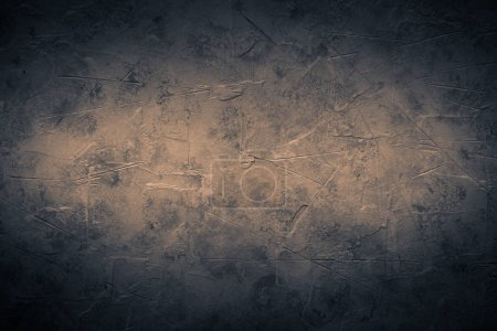 Photo for Black empty concrete stone texture. Black rock slate background. Hotisontal. Vignette. - Royalty Free Image