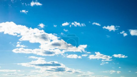 Photo for Beautiful clouds in clear blue sky in good sunny day. - Royalty Free Image