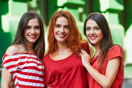 Three sisters-triplets portrait