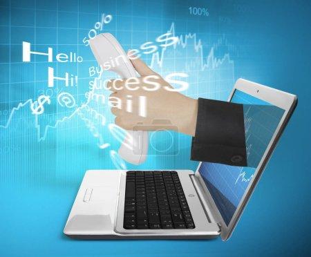 Photo pour Interface de mobilité ordinateur portable - image libre de droit