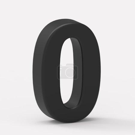 left black number 0