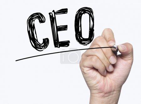 CEO written by hand