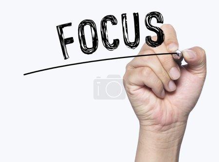 focus written by hand