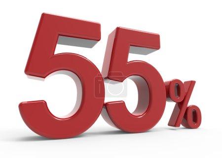3d rendering of a 55% symbol