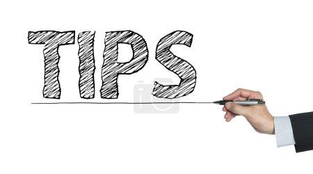 Photo pour Conseils écrits à la main, écriture à la main sur un tableau transparent, photo - image libre de droit