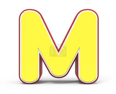 gelber Buchstabe m