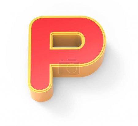 Letra roja P
