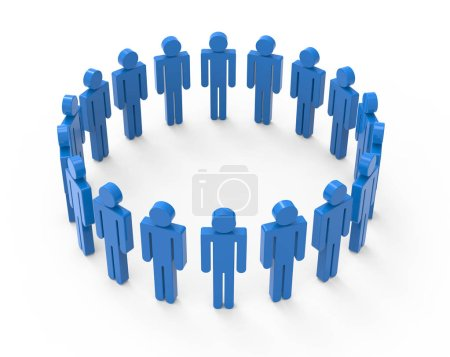 circle of blue men images