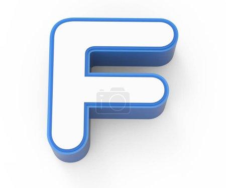 bleu encadré lettre blanche F