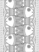 Lovely adult coloring page