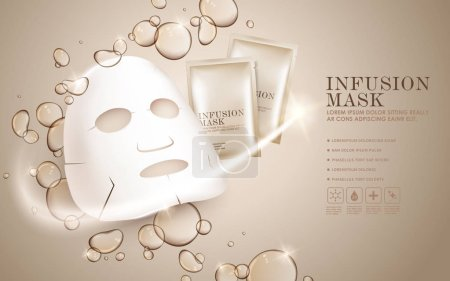 Facial mask ads template