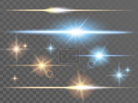 Illustration for Glowing light effects, for decoration, transparent background - Royalty Free Image