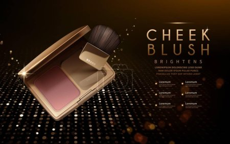 Modern cheek blush ads
