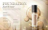 Glamorous foundation ads