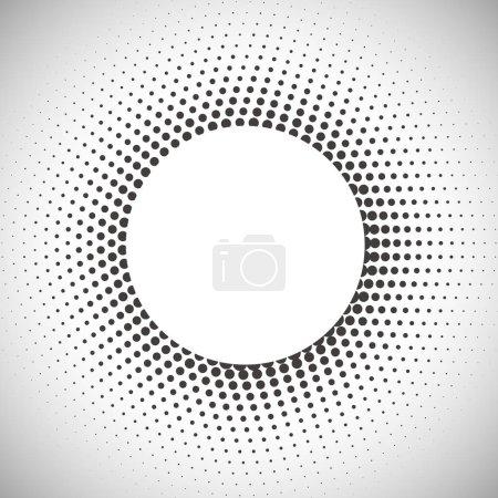 Illustration pour Motif abstrait en demi-teinte beige et marron. Forme ronde fond . - image libre de droit