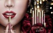 rose lip gloss ad