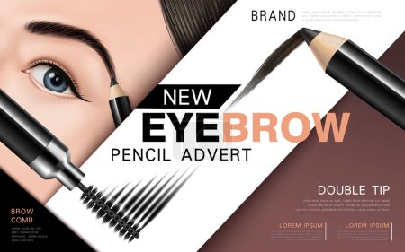 eyebrow pencil and mascara ad