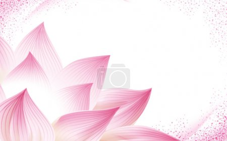 half lotus flower background