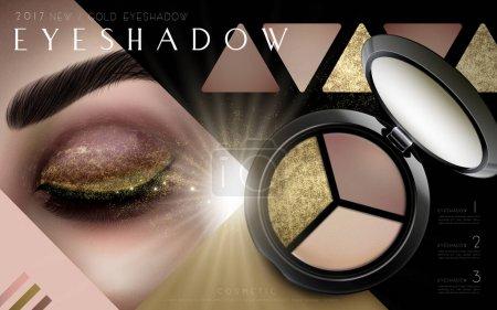 multicolor eyeshadow ad