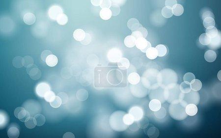 Illustration for Elegant aquamarine bokeh abstract background, 3d illustration - Royalty Free Image