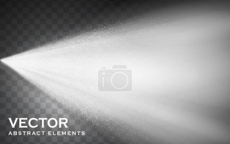 Illustration for Bigger fog spray elements for effect uses, isolated transparent background, 3d illustration - Royalty Free Image