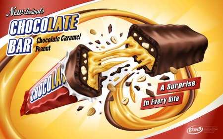 caramel chocolate bar ad