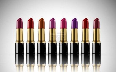 colorful lipstick elements