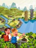 Asian travel poster