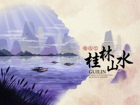 China Guilin travel Poster