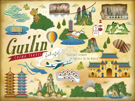 Guilin travel elements collection