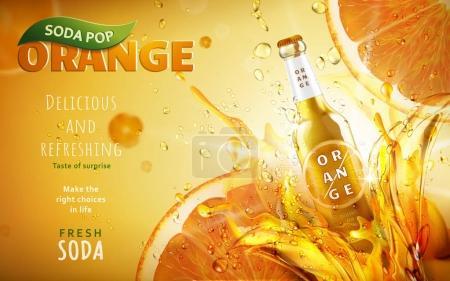 orange soda pop ad