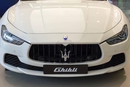 White Maserati Ghibli close up