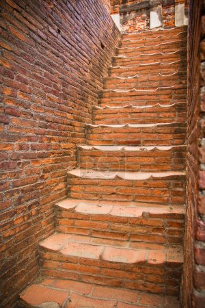 Photo for Red brick Stairs  in Thailand - Royalty Free Image