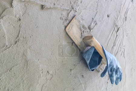 hand plastered wall