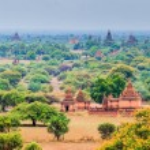 Old Pagoda in Bagan city at Shan State myanmar...