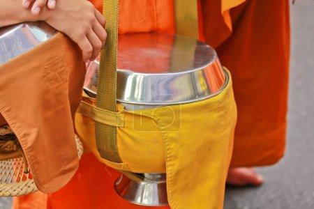 Buddhist monks close up