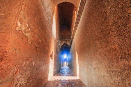 narrow tunnel walkway