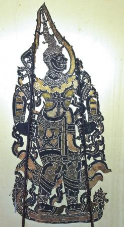 Ancient Thai pattern shadow