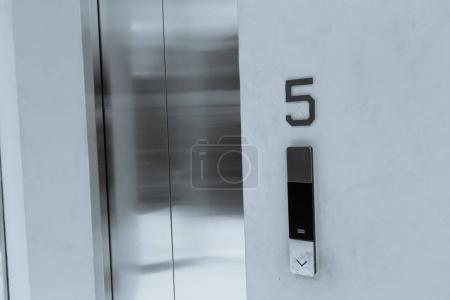 grey closed elevator doors
