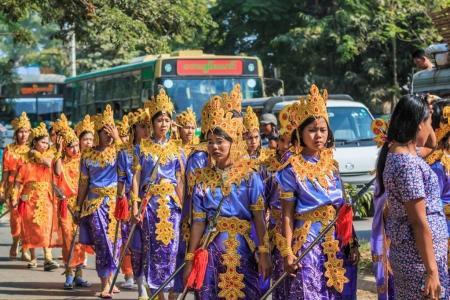 Part of ordination in Mandalay, Myanmar