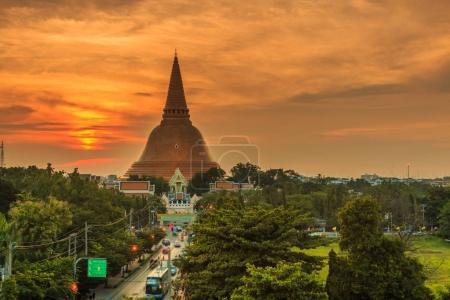 Golden pagoda Phra Pathom Chedi
