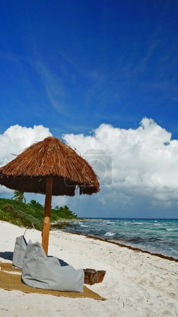 shade on the Cancun beach