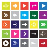 Set of arrows icon Vector flat icon