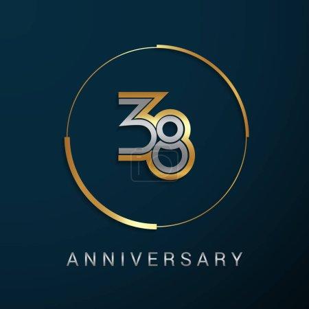 38 Years Anniversary Logotype