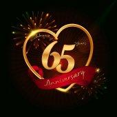 65 years anniversary logo