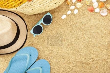 beach accesories on sands