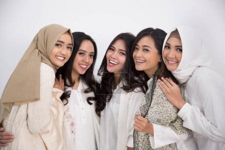 asian muslim woman. eid mubarak concept