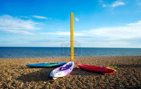 3 sea kayaks