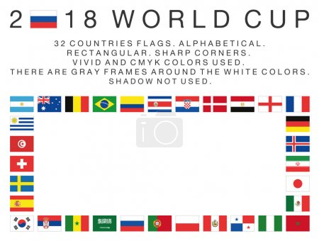 Rectangular flags of 2018 World Cup countries